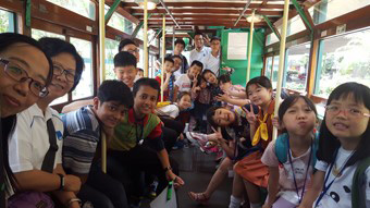 JEC Touring Hong Kong's culture by tram
