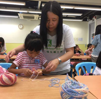 Knitting for love with Hang Seng volunteers